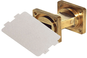 waveguide and mica waveguide cover for a microwave oven